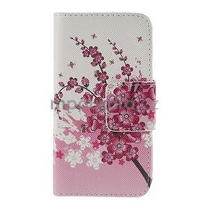 Zapínací puzdro pre Samsung Galaxy J1 - kvetoucí větvička - 5