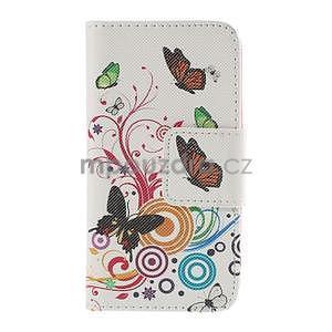 Zapínací puzdro pre Samsung Galaxy J1 - motýlci - 5