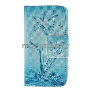 Zapínací puzdro pre Samsung Galaxy J1 - vodní kvetina - 5