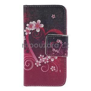 Zapínací puzdro pre Samsung Galaxy J1 - květinové srdce - 5