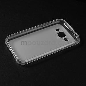 Matný gélový obal na Samsung Galaxy J1 - biely - 5