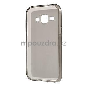 Matný gélový obal na Samsung Galaxy J1 - šedý - 5