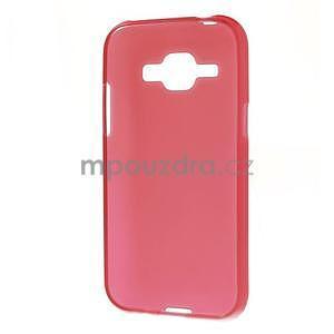 Červený matný kryt pre Samsung Galaxy J1 - 5