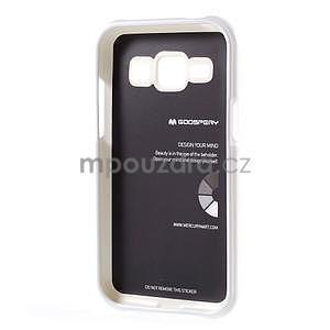 Biely gélový obal pre Samsung Galaxy J1 - 5