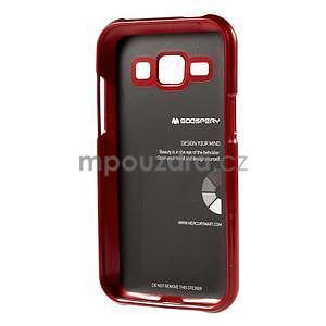 Červený gélový obal na Samsung Galaxy J1 - 5