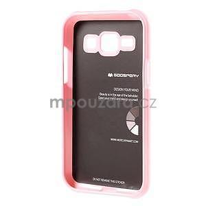 Růžový gélový obal na Samsung Galaxy J1 - 5