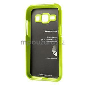 Zelený gélový obal pre Samsung Galaxy J1 - 5