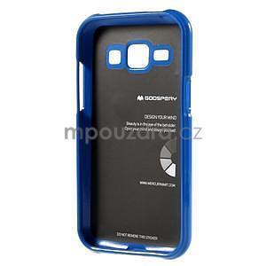 Modrý gélový obal na Samsung Galaxy J1 - 5