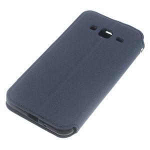Roar PU kožené pouzdro s okýnkem na Samsung Galaxy J3 (2016) - tmavěmodré - 5