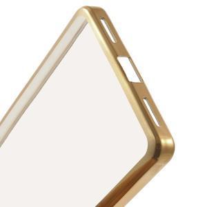 gélový obal se zlatým obvodem pre Samsung Galaxy J3 (2016) - 5
