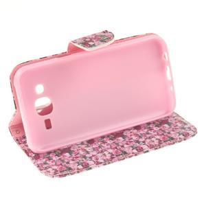 Standy peněženkové pouzdro na Samsung Galaxy J5 - růže - 5