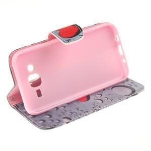 Standy peňaženkové puzdro pre Samsung Galaxy J5 - srdca - 5