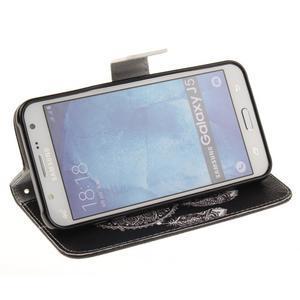 Standy peňaženkové puzdro pre Samsung Galaxy J5 - lapač snov - 5