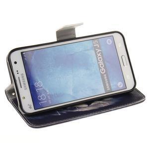 Standy peňaženkové puzdro pre Samsung Galaxy J5 - lev - 5