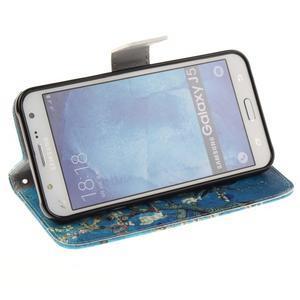 Standy peněženkové pouzdro na Samsung Galaxy J5 - kvetoucí strom - 5