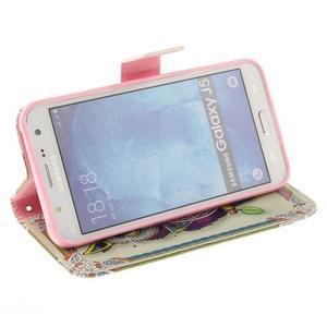 Standy peněženkové pouzdro na Samsung Galaxy J5 - sova - 5