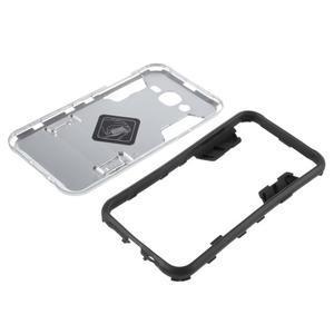 Odolný kryt 2v1 se stojánkem na Samsung Galaxy J5 - stříbrný - 5
