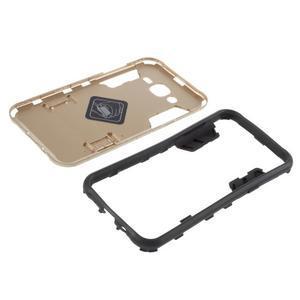 Odolný kryt 2v1 se stojánkem na Samsung Galaxy J5 - zlatý - 5