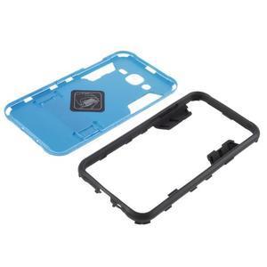 Odolný kryt 2v1 so stojanom pre Samsung Galaxy J5 - modrý - 5