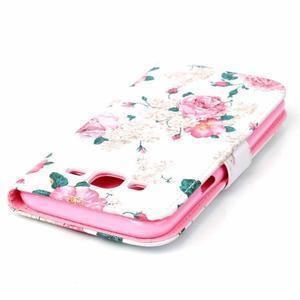 Pictu peňaženkové puzdro pre Samsung Galaxy J5 - kvety - 5