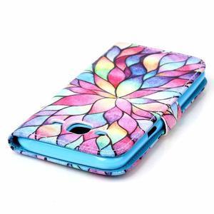 Pictu peňaženkové puzdro pre Samsung Galaxy J5 - farebné lístky - 5