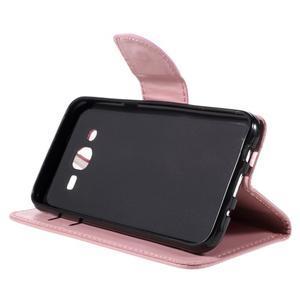Peňaženkové puzdro pre mobil Samsung Galaxy J5 - ružové - 5
