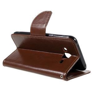 Peňaženkové puzdro pre mobil Samsung Galaxy J5 - hnedé - 5