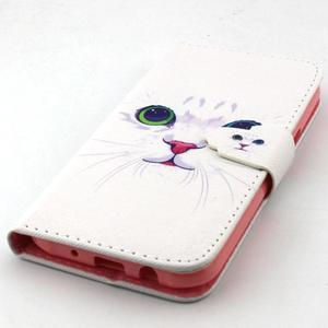 Knížkové puzdro pre mobil Samsung Galax J5 - mačička - 5