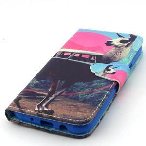 Knížkové pouzdro na mobil Samsung Galax J5 - lama - 5