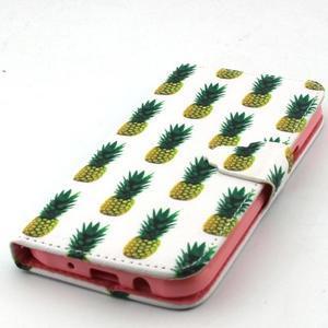 Knížkové pouzdro na mobil Samsung Galax J5 - ananasy - 5