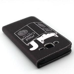 Knížkové puzdro pre mobil Samsung Galax J5 - mačka čte - 5