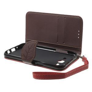 Leaf peňaženkové puzdro pre Samsung Galaxy J5 - červené - 5