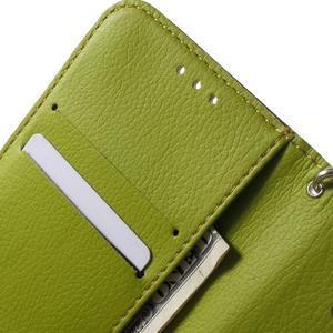 Leaf peňaženkové puzdro pre Samsung Galaxy J5 - hnedé - 5