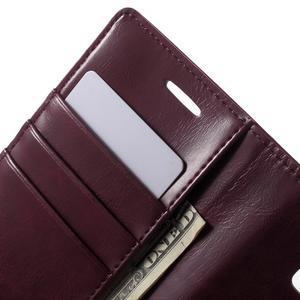 Mercury PU kožené puzdro pre mobil Samsung Galaxy J5 - vinové - 5
