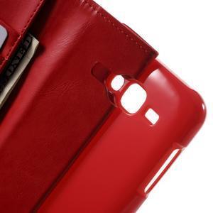 Mercury PU kožené puzdro pre mobil Samsung Galaxy J5 - červené - 5