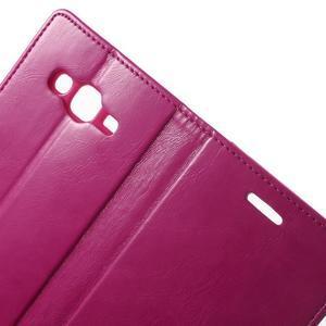 Mercury PU kožené puzdro pre mobil Samsung Galaxy J5 - rose - 5
