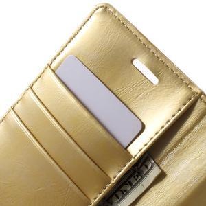 Mercury PU kožené puzdro pre mobil Samsung Galaxy J5 - zlaté - 5