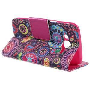 Dairy peňaženkové puzdro pre Samsung Galaxy J5 - farebné kruhy - 5