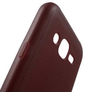 Texturový gelový obal na Samsung Galaxy J5 - vinový - 5