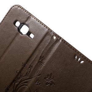 Butterfly PU kožené pouzdro na Samsung Galaxy J5 - coffee - 5