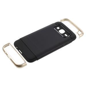 Odolný obal pre mobil Samsung Galaxy J5 - zlatý - 5