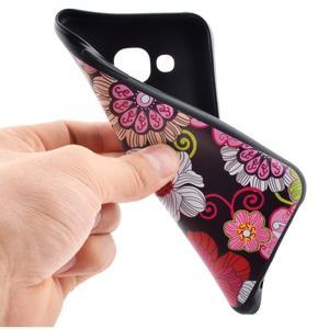 Jelly gélový obal pre mobil Samsung Galaxy J5 - koláž kvetin - 5