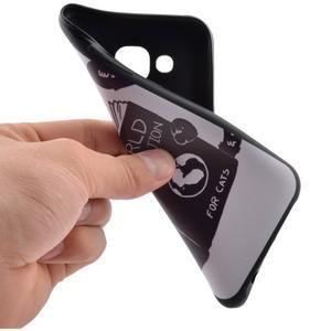 Jelly gélový obal pre mobil Samsung Galaxy J5 - mačička čte - 5