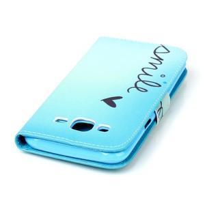 Pictu peňaženkové puzdro pre Samsung Galaxy J5 - smile - 5