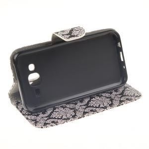 Standy peňaženkové puzdro pre Samsung Galaxy J5 - retro totem - 5