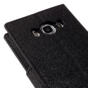 Diary PU kožené puzdro pre mobil Samsung Galaxy J5 (2016) - čierne - 5