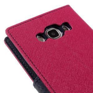 Diary PU kožené puzdro pre mobil Samsung Galaxy J5 (2016) - rose - 5
