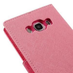 Diary PU kožené puzdro pre mobil Samsung Galaxy J5 (2016) - ružové - 5