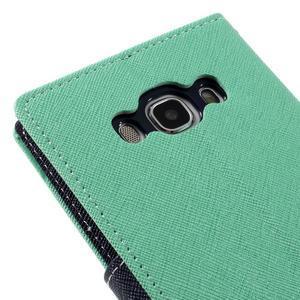 Diary PU kožené puzdro pre mobil Samsung Galaxy J5 (2016) - azúrové - 5