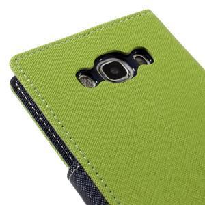 Diary PU kožené puzdro pre mobil Samsung Galaxy J5 (2016) - zelené - 5
